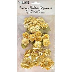 49 and Market - Paper Flowers - Vintage Shades Potpourri Yellow