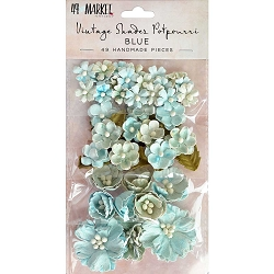 49 and Market - Paper Flowers - Vintage Shades Potpourri Blue