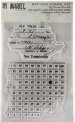 49 and Market - Clear Stamp - Pascale's Rations Stamp Set