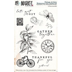 49 and Market - Vintage Artistry Wedgewood Cozy Clear Stamp