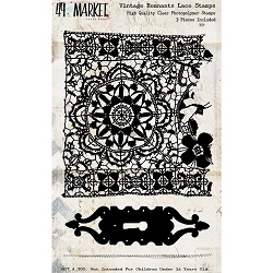 49 and Market - Vintage Remnants Lace Clear Stamps