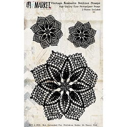 49 and Market - Vintage Remnants Doilies Clear Stamps