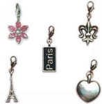 7 Gypsies - Charms w/claw closures - Paris Dangle Metal Charms
