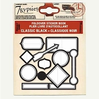 7 Gypsies-Foldover Sticker Book-Classic Black :)