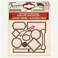 7 Gypsies-Foldover Sticker Book-Classic Brown