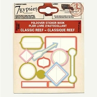 7 Gypsies-Foldover Sticker Book-Classic Reef