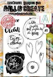 AALL & Create - Clear Stamp A6 size - Set #9