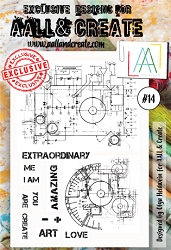 AALL & Create - Clear Stamp A6 size - Set #14