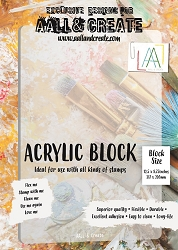 AALL & Create - Acrylic Block for A4 size Stamps