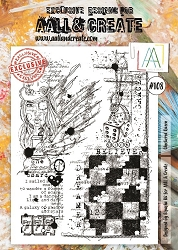 AALL & Create - Clear Stamp A4 size - Set #108 Checkered Queen