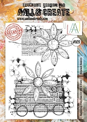AALL & Create - Clear Stamp A4 size - Set #109 Blossomed Numbers