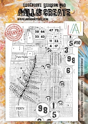 AALL & Create - Clear Stamp A4 size - Set #110 Numbered Botanical