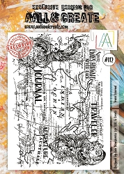 AALL & Create - Clear Stamp A4 size - Set #112 Travel Journal
