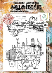 AALL & Create - Clear Stamp A4 size - Set #114 Red Baron