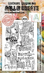 AALL & Create - Clear Stamp A6 size - Set #124 Carte Postale