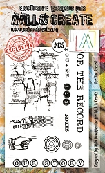 AALL & Create - Clear Stamp A6 size - Set #125 For the Record