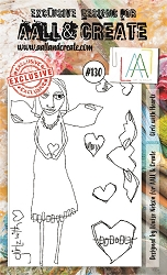 AALL & Create - Clear Stamp A6 size - Set #130 Girlz with Heartz