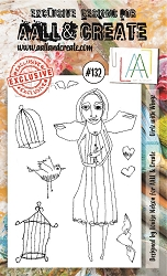 AALL & Create - Clear Stamp A6 size - Set #132 Girlz with Wingz