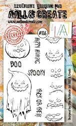 AALL & Create - Clear Stamp A6 size - Set #136 Spooks
