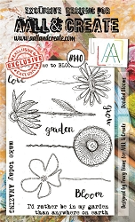 AALL & Create - Clear Stamp A6 size - Set #140 Doodled Blooms