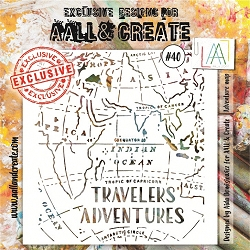 AALL & Create - Plastic Stencil - #40 Adventure Map