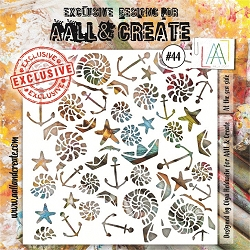 AALL & Create - Plastic Stencil - #44 At The Seaside