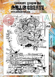 AALL & Create - Clear Stamp A4 size - Set #141 Tropical Vibes