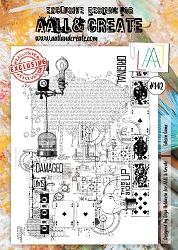 AALL & Create - Clear Stamp A4 size - Set #142 Edison Game