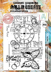 AALL & Create - Clear Stamp A4 size - Set #143 Time Flies