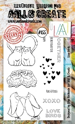 AALL & Create - Clear Stamp A6 size - Set #155 Love Birds