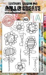 AALL & Create - Clear Stamp A6 size - Set #158 Freestyle Flowers