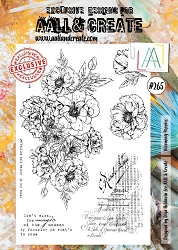 AALL & Create - Clear Stamp A4 size - Set #265 Blooming Poppies