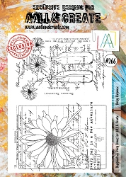 AALL & Create - Clear Stamp A4 size - Set #266 Daisy Elegance