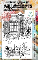 AALL & Create - Clear Stamp A5 size - Set #268 Shuttered Window
