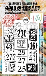 AALL & Create - Clear Stamp A6 Size - Set #280 Enumerated