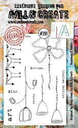AALL & Create - Clear Stamp A6 Size - Set #281 Happiness & Nature