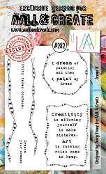 AALL & Create - Clear Stamp A6 Size - Set #282 Frame It