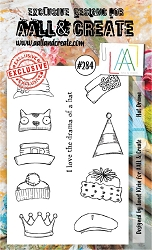 AALL & Create - Clear Stamp A6 Size - Set #284 Hat Drama