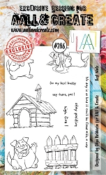 AALL & Create - Clear Stamp A6 Size - Set #286 Best Mate