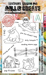 AALL & Create - Clear Stamp A6 Size - Set #287 Dirty Games