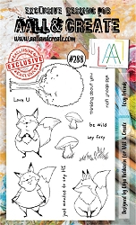 AALL & Create - Clear Stamp A6 Size - Set #288 Foxy Friends