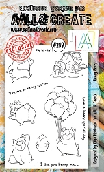 AALL & Create - Clear Stamp A6 Size - Set #289 Honey Bears