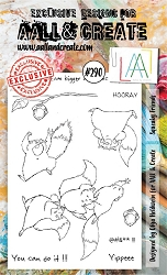 AALL & Create - Clear Stamp A6 Size - Set #290 Squeaky Friends