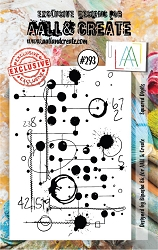 AALL & Create - Clear Stamp Small - Set #293 Squared Digits