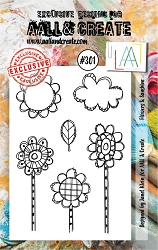 AALL & Create - Clear Stamp Small - Set #301 Flowers & Sunshine