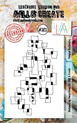 AALL & Create - Clear Stamp Small - Set #303 Tangled Rectangles