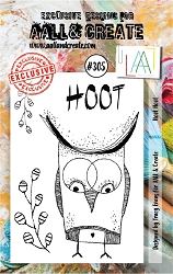 AALL & Create - Clear Stamp Small - Set #305 Hoot Hoot