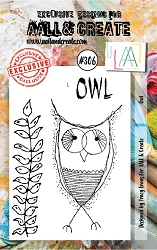 AALL & Create - Clear Stamp Small - Set #306 Owl