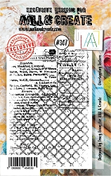 AALL & Create - Clear Stamp Small - Set #307 Overlapping Texture