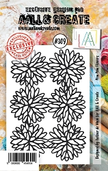 AALL & Create - Clear Stamp Small - Set #309 Pom Pom Flowers